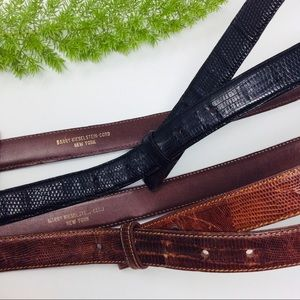 VTG Barry Keiselstein-Cord Genuine Lizard Belts